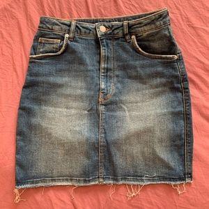 Zara TRF Hi-rise Stretch Denim Mini Skirt